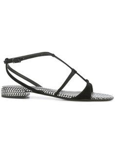 сандалии с ремешками Emporio Armani