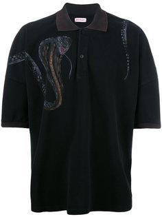 футболка-поло с принтом змеи Palm Angels