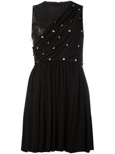 платье со сборками и заклепками Versus