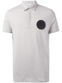 футболка-поло с круглой заплаткой Versace Collection
