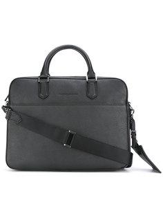 сумка для ноутбука с тиснением логотипа Emporio Armani