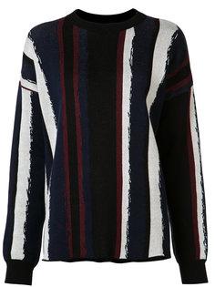 свитер с круглым вырезом в полоску Baja East