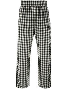 клетчатые брюки свободного кроя Off-White