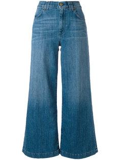 широкие укороченные джинсы 7 For All Mankind