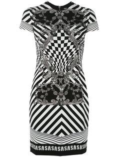 платье с эффектом оптической иллюзии Versus