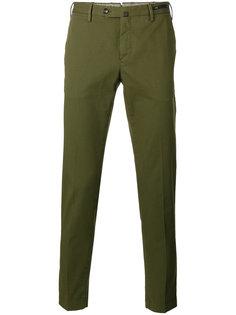 зауженные укороченные брюки Pt01