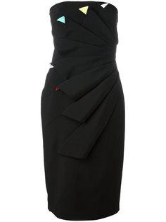 плиссированное платье без бретелей Capucci