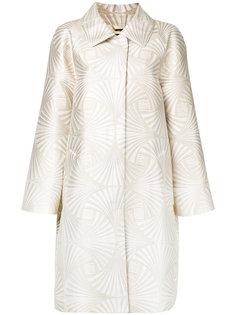 блестящее пальто Alberta Ferretti