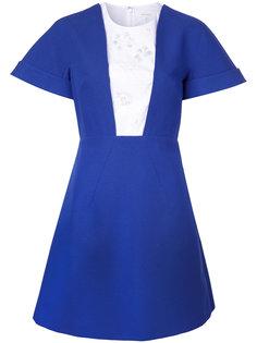 платье с контрастными вставками Delpozo
