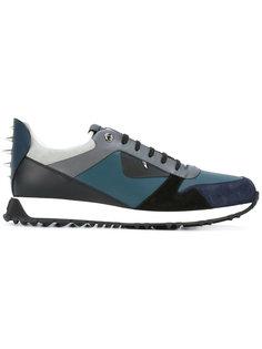 кроссовки с панельным дизайном Fendi
