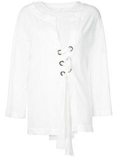 блузка со шнуровкой Alberta Ferretti