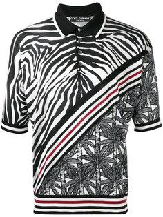 рубашка-поло с зебровым узором Dolce & Gabbana