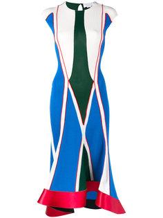 платье с геометрическим принтом Esteban Cortazar