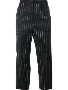 укороченные брюки в полоску Golden Goose Deluxe Brand
