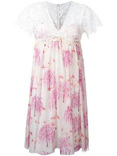 платье с принтом фламинго Giamba