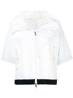 укороченная куртка с контрастным подолом Moncler