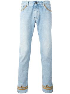 облегающие джинсы с отделкой позументом Palm Angels