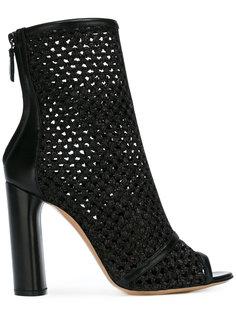 ботинки с открытым носком Casadei