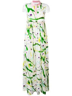 платье с абстрактным принтом Si Jay