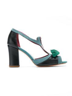 pompom sandals Sarah Chofakian