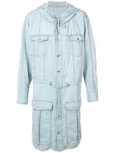 джинсовая куртка с капюшоном Balmain