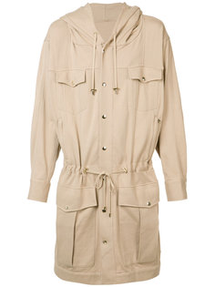 длинная куртка со стяжкой Balmain