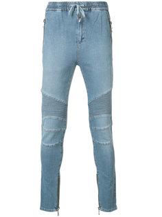 байкерские спортивные джинсы Balmain