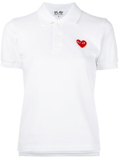 рубашка-поло с нашивкой сердца Comme Des Garçons Play