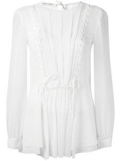 прозрачная блузка с оборками Alberta Ferretti