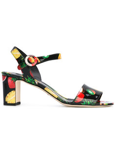 босоножки с принтом фруктов Dolce & Gabbana