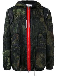 куртка с капюшоном и принтом Givenchy