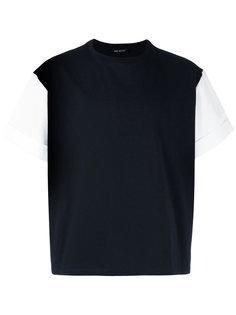 футболка с контрастными рукавами Neil Barrett