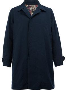 пальто с потайной застежкой Undercover