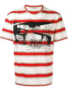 футболка с принтом в полоску Stella McCartney