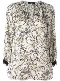 блузка с цветочным узором Steffen Schraut