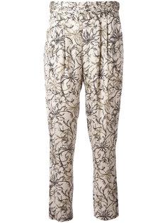 укороченные брюки с цветочным узором Steffen Schraut