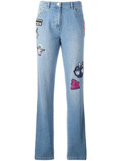 джинсы бойфренды с нашивками Kenzo