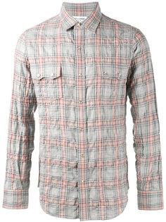 рубашка в клетку Saint Laurent