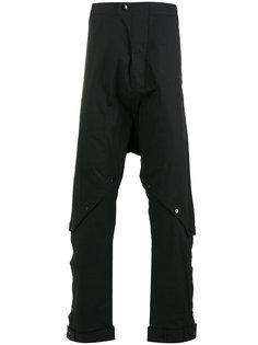 брюки с заниженной проймой и пуговицами на коленях Barbara I Gongini