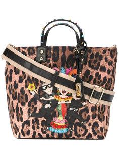 сумка-тоут с леопардовым принтом Dolce & Gabbana
