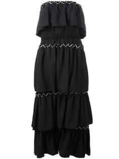 многослойное платье без бретелек Sonia Rykiel