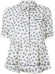 блузка на пуговицах с баской P.A.R.O.S.H.