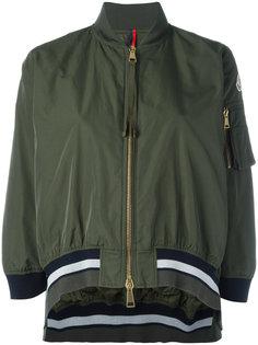 укороченная куртка с отделкой в полоску Moncler