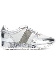 металлизированные кроссовки на шнуровке Steffen Schraut