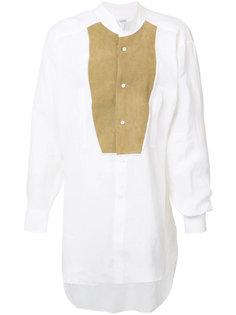 рубашка с кожаной панелью Loewe