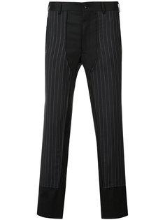 брюки в полоску с панельным дизайном Comme Des Garçons Homme Plus