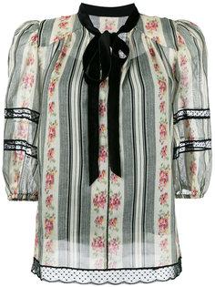 блузка с цветочным узором Marc Jacobs
