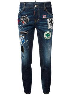 джинсы Cool Girl с нашивками Dsquared2