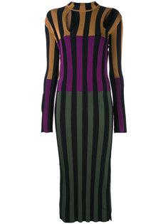 платье в полоску дизайна колор-блок Nina Ricci