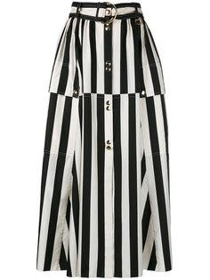 полосатая юбка А-образного кроя Nina Ricci